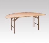 R-T26 ベニヤ半円テーブル φ1800・H700