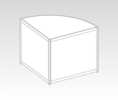 OCT-10/10DD10 オクタ1/4円形展示台 W990
